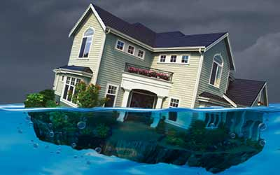 Mortgage modification image of house underwater