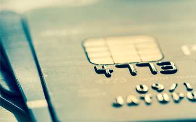 Closeup of a credit card.